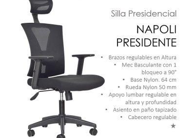 Silla ergonómica Presidente Napoli